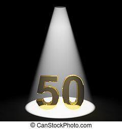 or, 50th, nombre, anniversaire, anniversaire, représenter,...