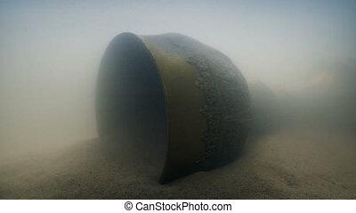 or, ancien, sable, calice, sous-marin