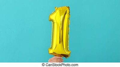 or, balloon, numéro 1, fleuret, célébration