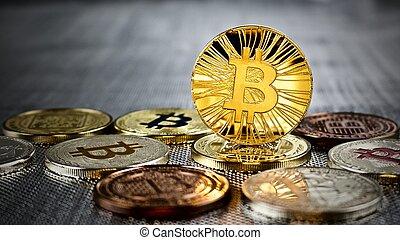 or, bitcoin, monnaie