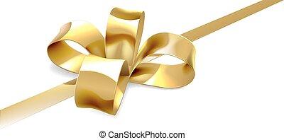 or, cadeau, fond, arc