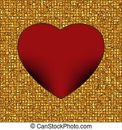 or, cadre, dans, les, forme, de, heart., eps, 8