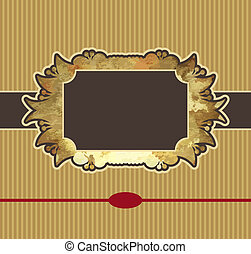 or, cadre, royal, obsolète, élément, conception
