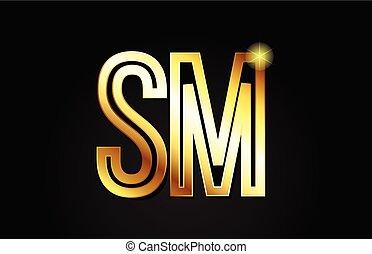 or, combinaison, alphabet, m, sm, s, conception, lettre,...