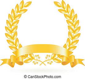 or, couronne, vecteur