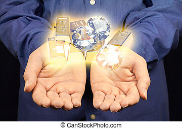 or, diamants