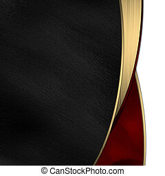 or, divisé, noir, raie, fond, rouges