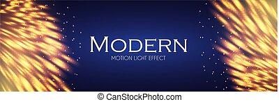 or, effect., lumière, résumé, mouvement, feather., fond, briller, design.