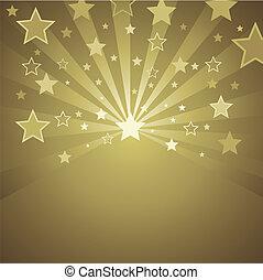 or, fond, étoiles
