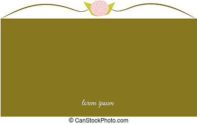 or, fond, bouton rose