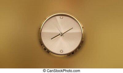 or, fond, timelapse, jaune, montre