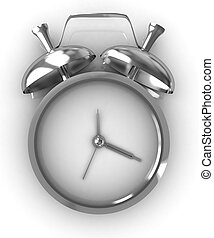 or, horloge, reveil, illustration, icône, 3d