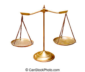 or, laiton, balance équilibre, isolé, blanc, fond, usage,...