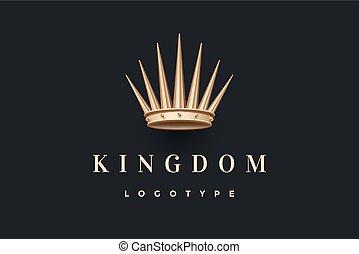 or, logo, inscription, roi, couronne, royaume