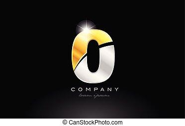 or, métal, gris, nombre, 0, arrière-plan noir, logo, argent