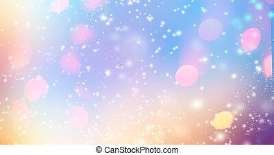 or, magie, fête, scintillement, étoiles, lights., hologramme...