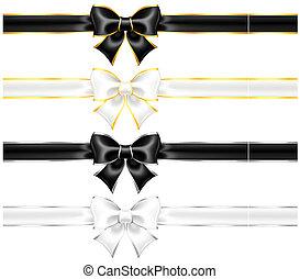 or, noir, arcs, bordure, blanc, argent, rubans