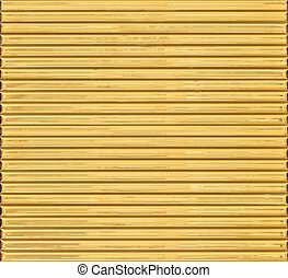 or-plaqué, horizontal, barres.