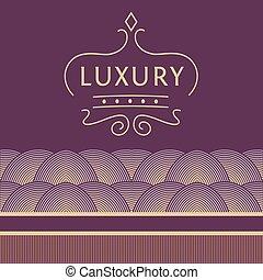 or, pourpre, pattern., élégance, luxe, fond, magasins, logo, boutiques.