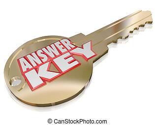 or, question, solution, résoudre, clã©, réponse, ouvrir