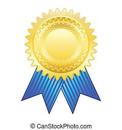 or, récompense, ruban