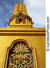 or, résumé, métal, croix, bangkok, thaïlande