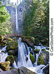 A challenging hike to Watson Falls , brought us to one of the more spectacular falls on this Scenic Byway.