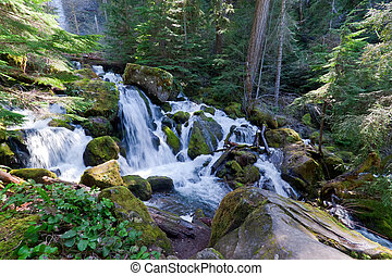 The lower portion of Watson Falls is every bit as scenic as the higher falls.