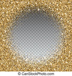 or, sable, arrière-plan., clair, scintillement, transparent