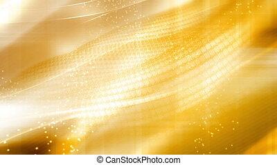 or, treillis, cg, fond, clair, animé, jaune, faire boucle