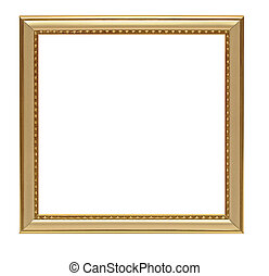 or, vendange, cadre, isolé, fond, blanc