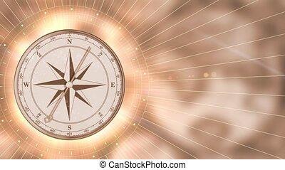 or, vendange, mouvement brouillé, fond, compas