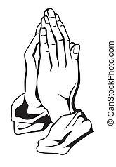 oração, mão