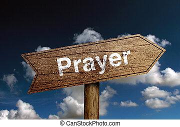 oração, sinal estrada