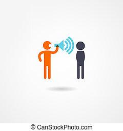 orador, ícone