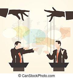 orador, discurso, debate, hombre