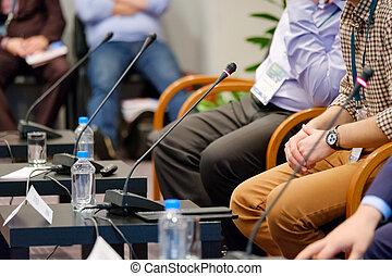 orador, em, um, conferência negócio
