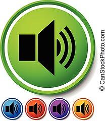 orador, notificação, icons., orador, alarme, ícone, para,...