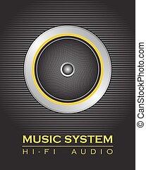 orador, sistema de música