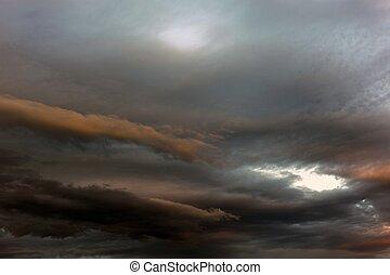 orage, approchant