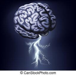orage cerveau, illustration
