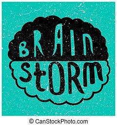 orage cerveau, texte