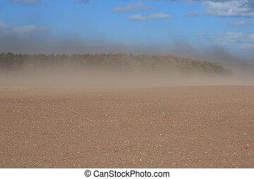orage poussière