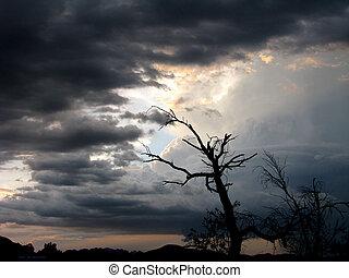 orage, venir