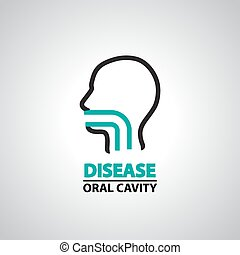 oral cavity icon and symbol