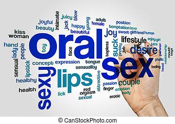 oral, concepto, palabra, nube, sexo