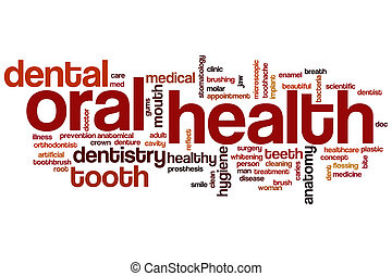 Oral health word cloud concept