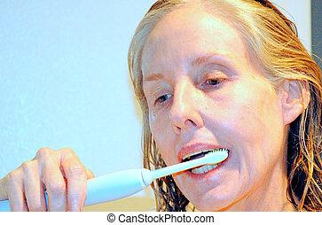 Oral hygiene.