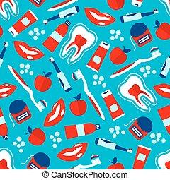 Oral hygiene seamless pattern for dentistry design