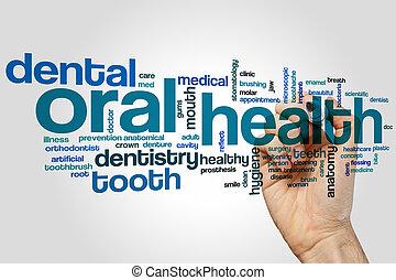 oral, nuage, mot, santé